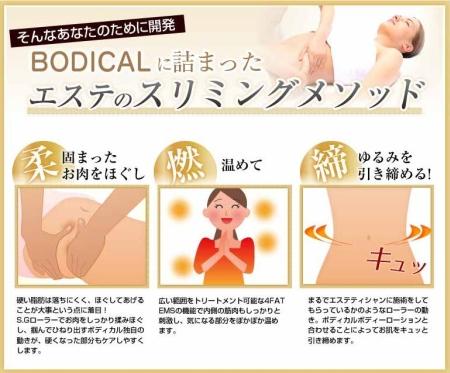 部分痩せ対応EMSマシン「ボディカル」